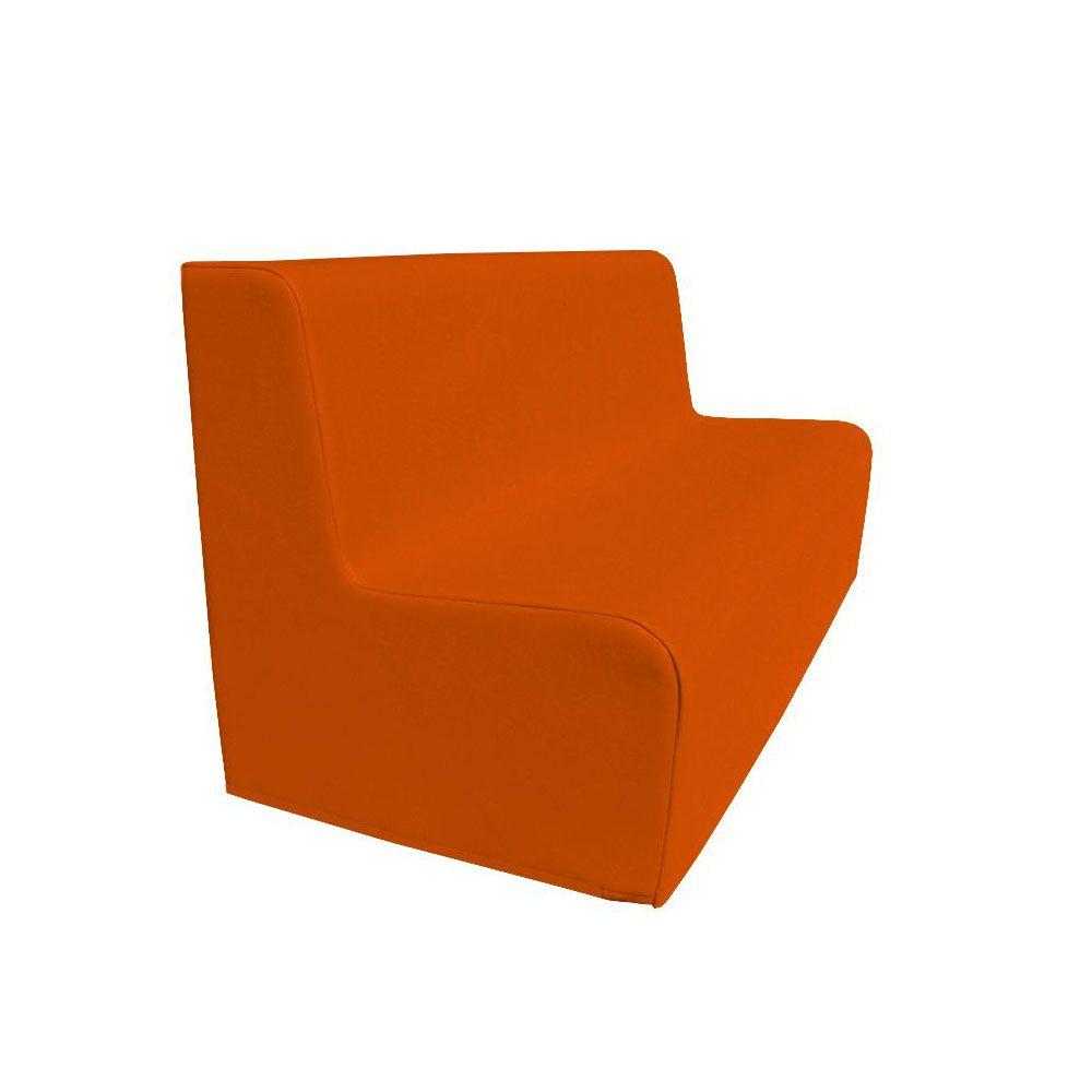 Canapé 150 orange avec bords arrondis 150 x 45 cm et hauteur 50 cm (photo)