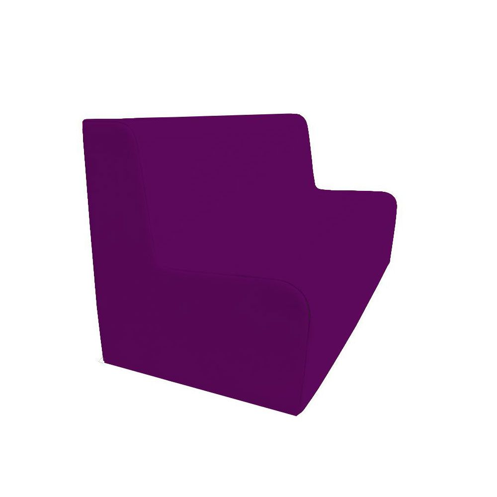 Canapé 150 violet avec bords arrondis 150 x 45 cm et hauteur 50 cm (photo)