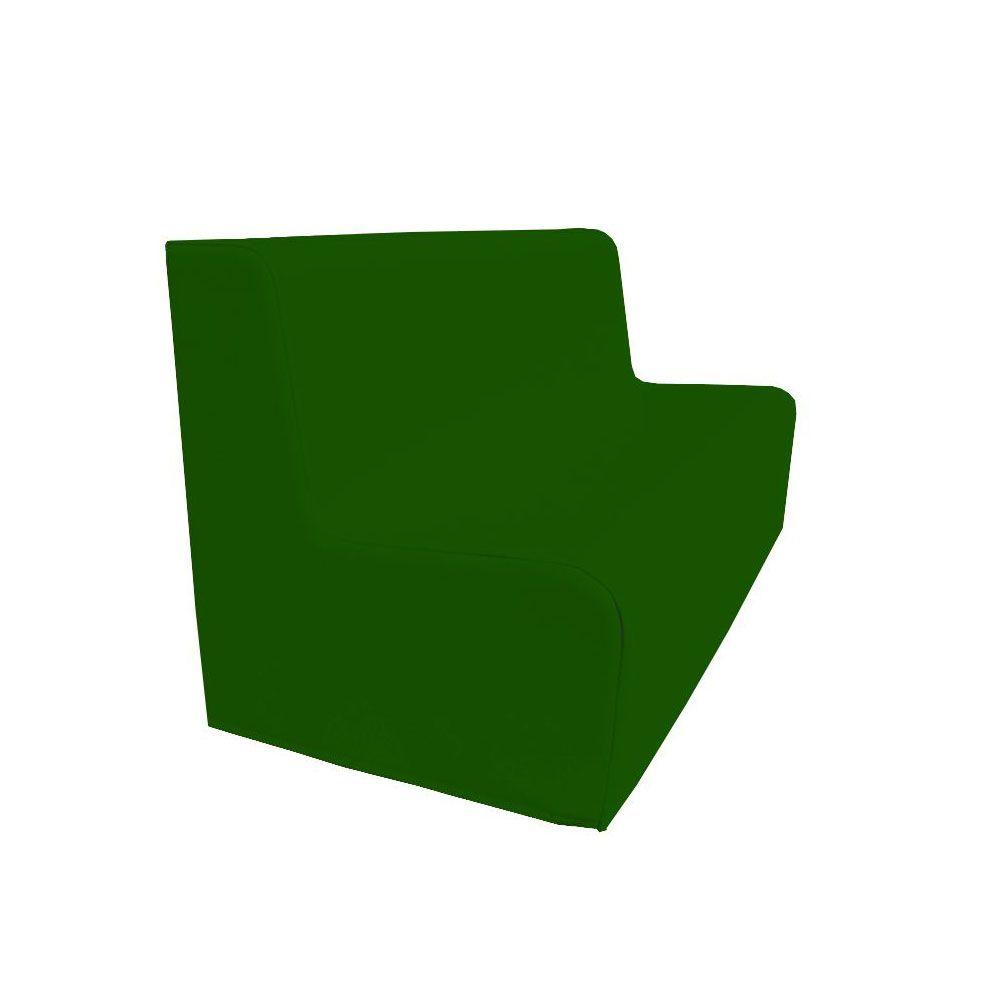 Canapé 150 vert foncé avec bords arrondis 150 x 45 cm et hauteur 50 cm (photo)