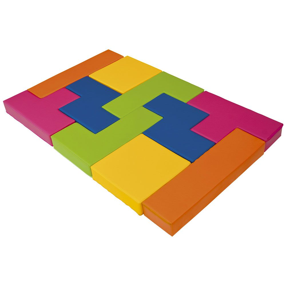 Jeu en mousse coloré tetris (10 pièces)