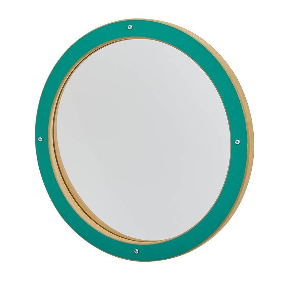 Miroir déformant rond vert (photo)
