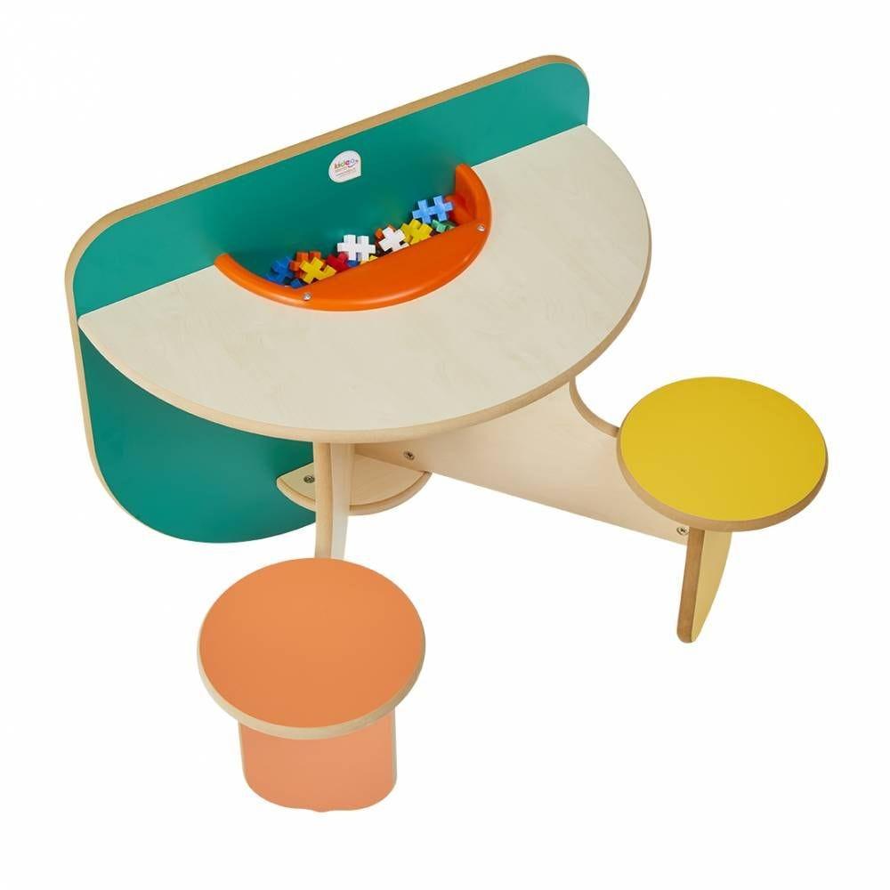 Table à jouer duo colors avec bac à jouets (photo)