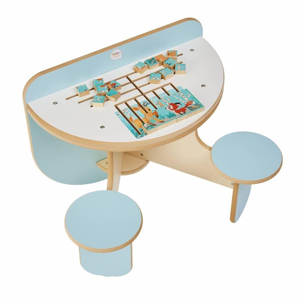 Table à jouer duo puzzle forêt pour 2 enfants (photo)