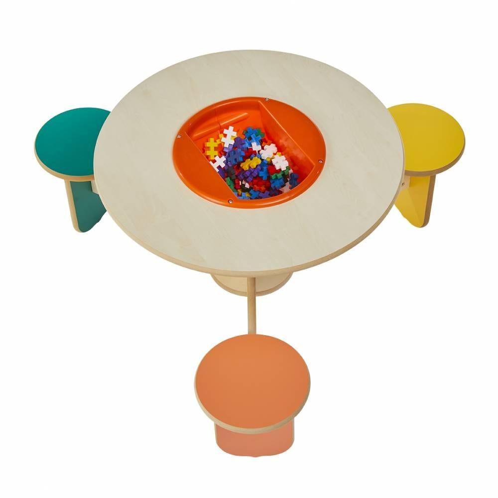 Table à jouer trio colors avec bac à jouets (photo)