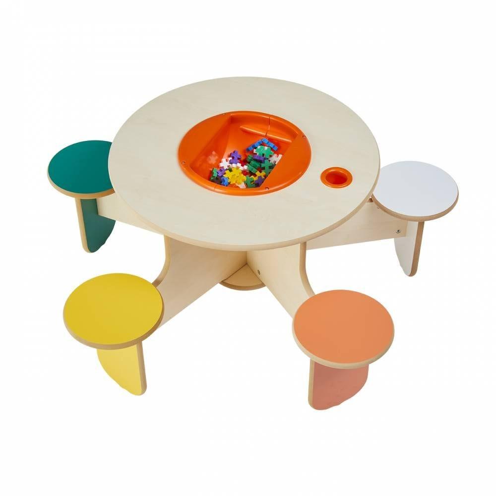 Table à jouer pento colors avec bac à jouets (photo)