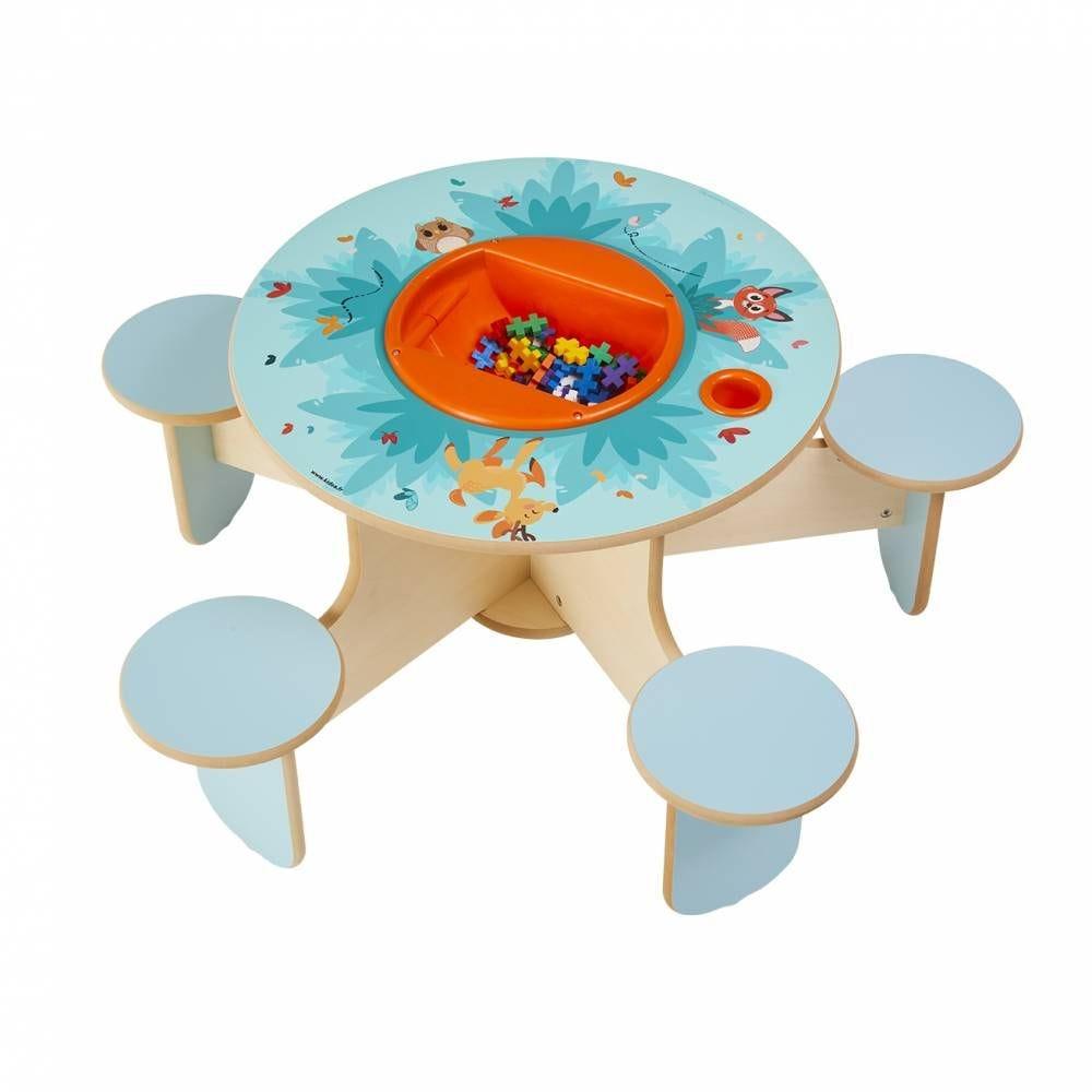 Table à jouer pento forêt avec bac à jouets (photo)
