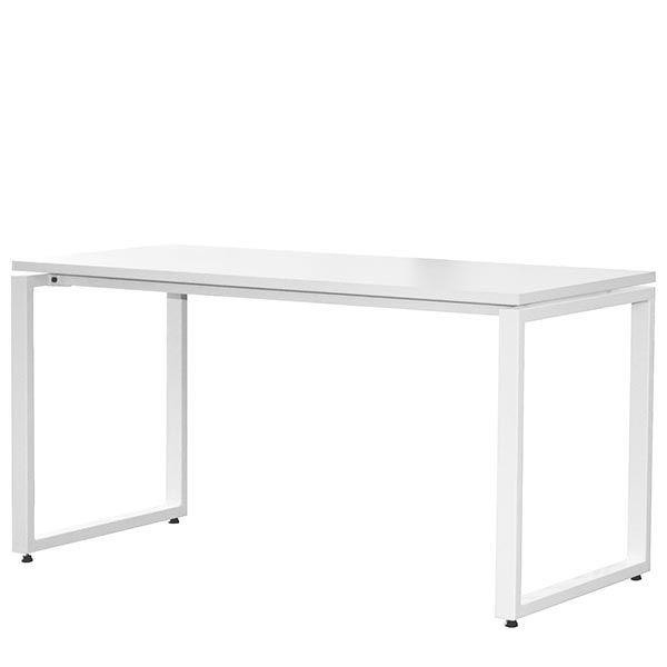 Bureau bench 134x67 cm blanc - bout de bureaux