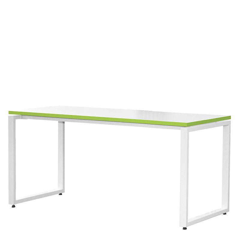 Bureau bench 134x67 cm blanc/anis - bout de bureaux