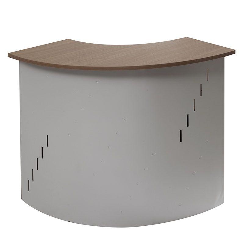 Module d'angle concave de banque d'accueil aluminium