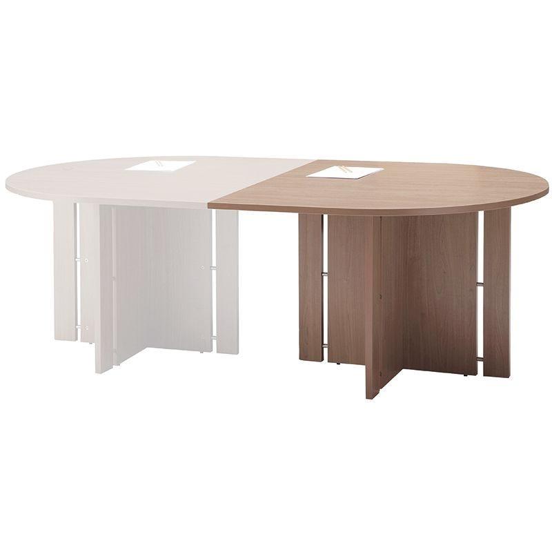 Module 1/2 rond pour table de réunion chêne clair