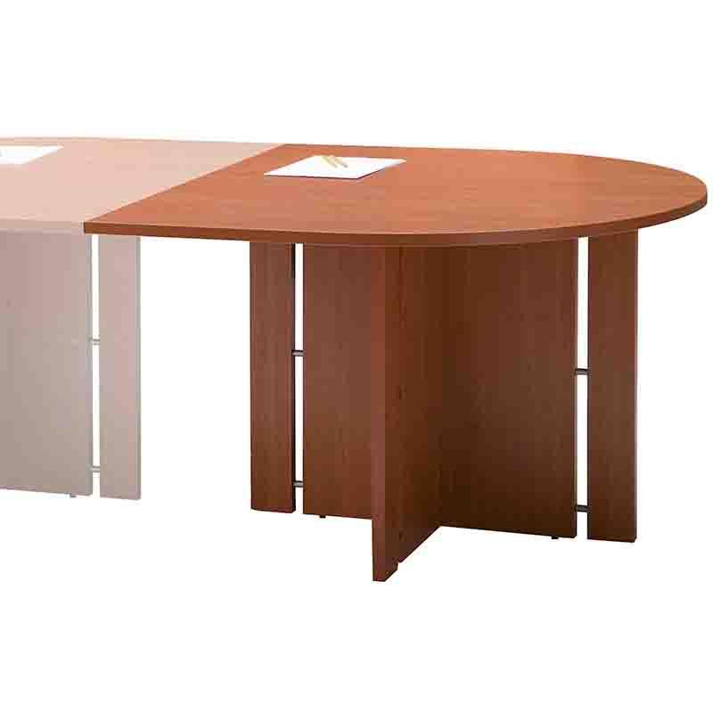 Module 1/2 rond pour table de réunion merisier