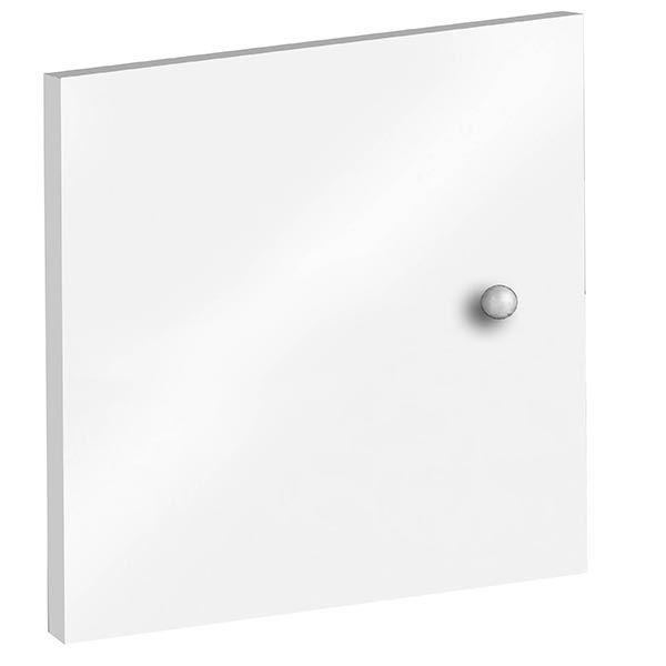 Portes à adapter sur bibliothèques multicases - coloris blanc - lot de
