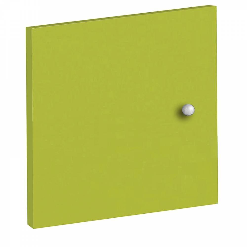 Portes à adapter sur bibliothèques multicases - coloris anis - lot de 2
