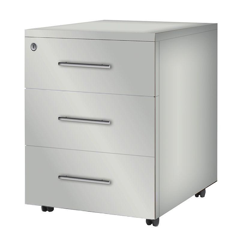 Caisson mobile 3 tiroirs papeterie gris perle