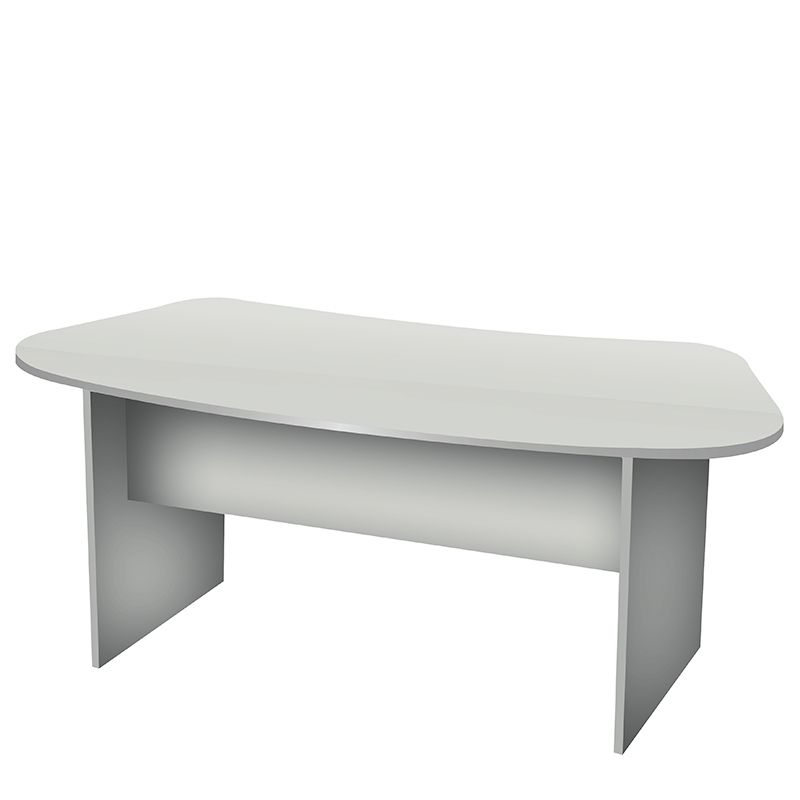 Bureau forme haricot gris perle