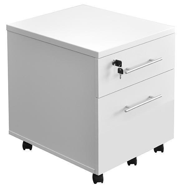 Caisson mobile 2 tiroirs blanc