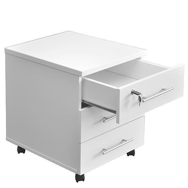 Caisson mobile 3 tiroirs blanc