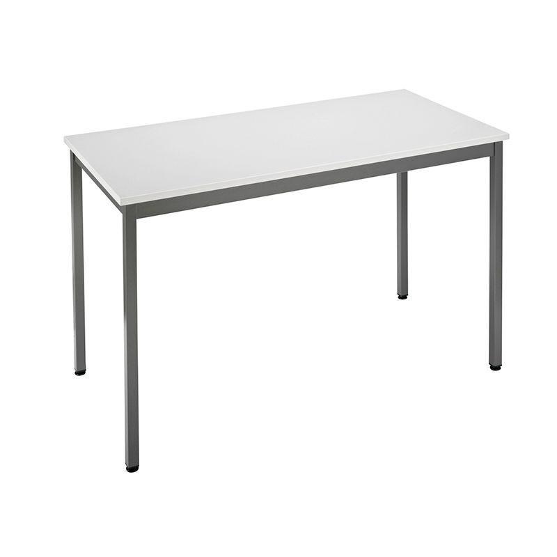 Table de réunion modulaire forme rectangle 120x60 cm gris/anthracite (photo)