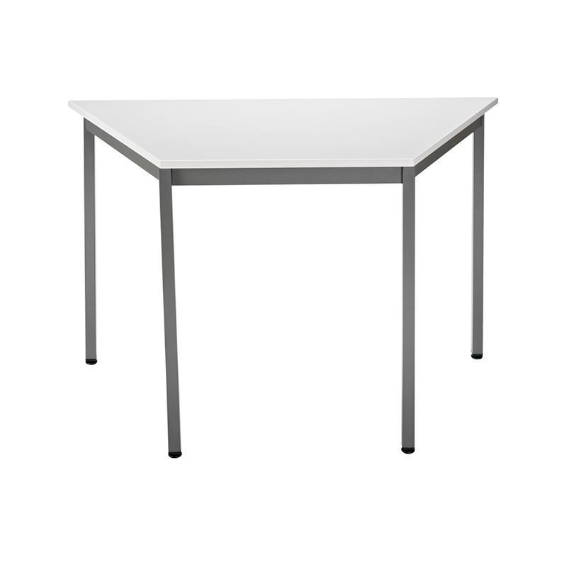 Table de réunion modulaire forme trapèze 120x60 cm gris/anthracite (photo)