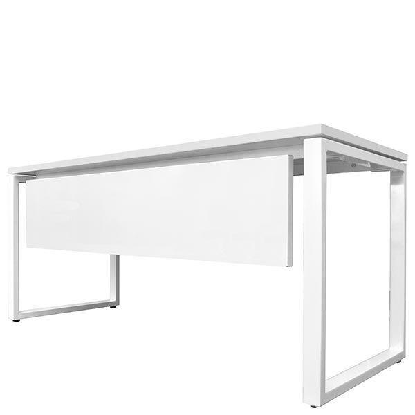 Voile de fond pour bureau bench 120x67 cm blanc