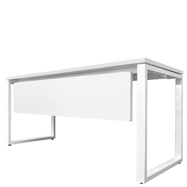 Voile de fond pour bureau bench 140x67 cm blanc