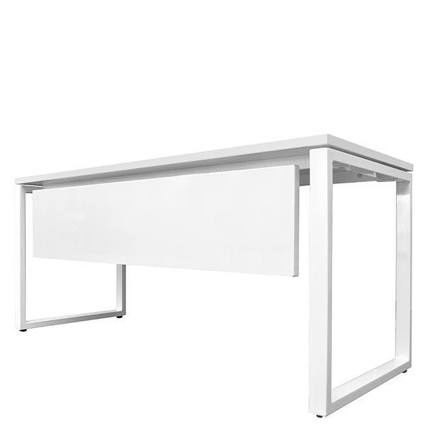 Voile de fond pour bureau bench 160x67 cm blanc