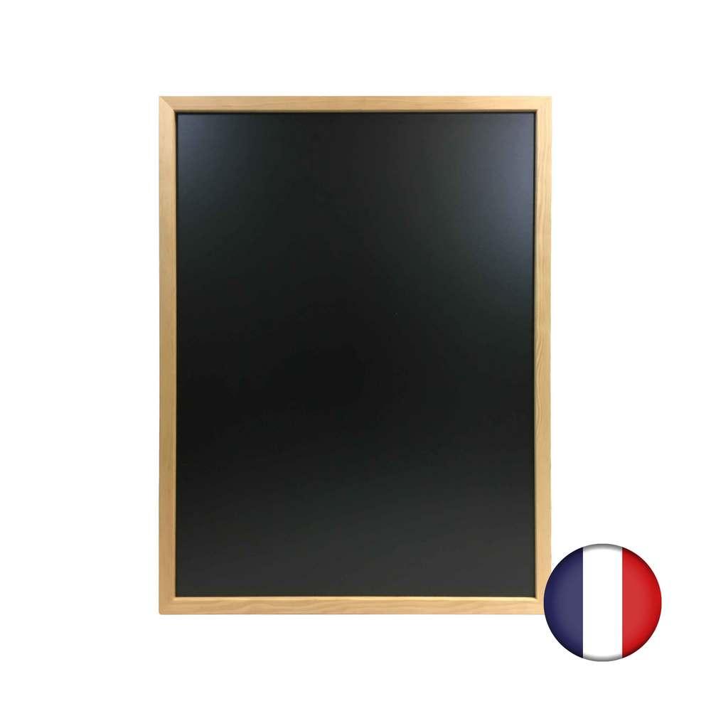 Ardoise murale cadre carré en bois brut dimensions 83 x 63 cm