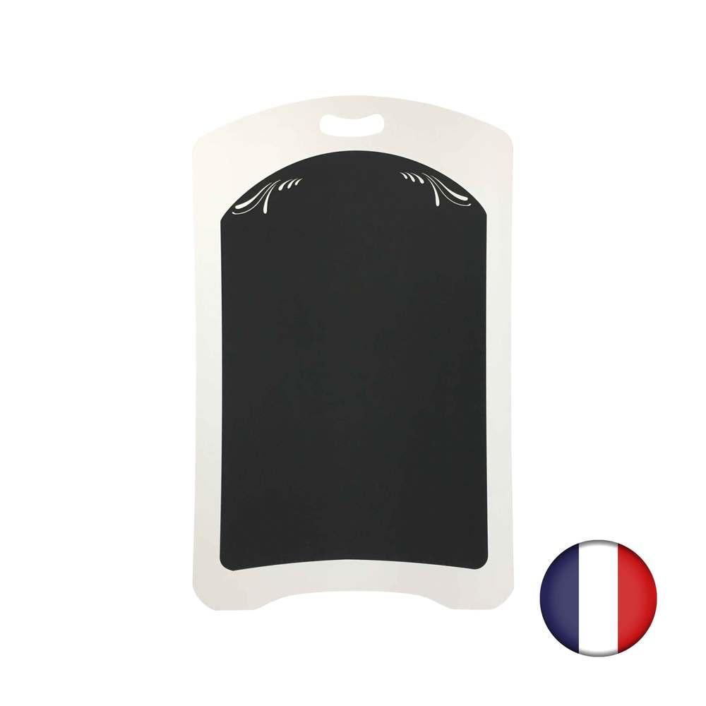 Ardoise plastique avec poignée et volutes de dimensions 100 x 62,5 cm