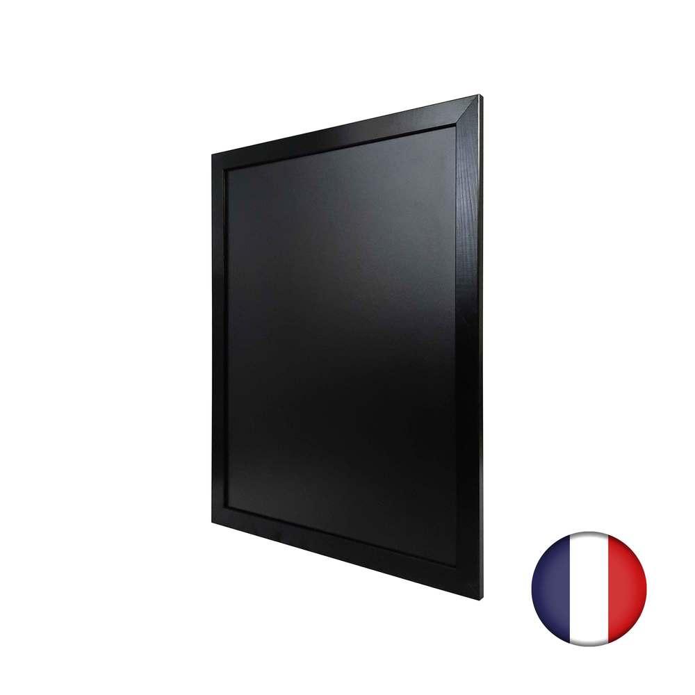 Ardoise murale double face moulure large couleur noir dimensions 87 x 67 cm