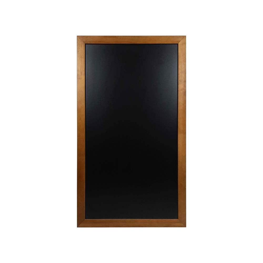 Ardoise murale double face moulure large couleur chêne dimensions 104 x 59 cm