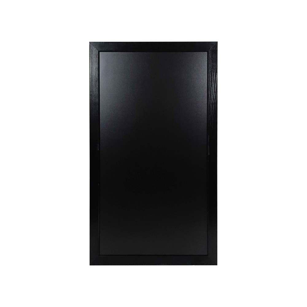 Ardoise murale double face moulure large couleur noir dimensions 104 x 59 cm
