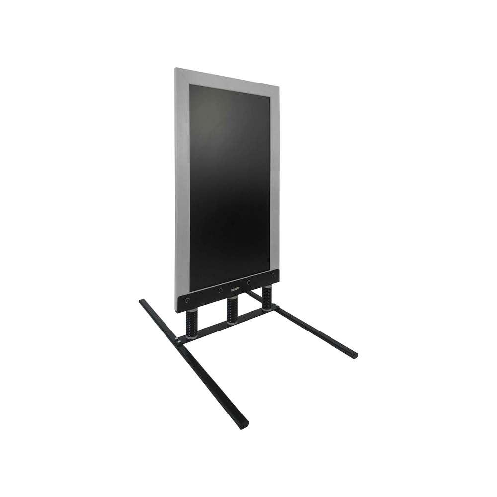 Panneau trottoir sur 3 ressorts dimensions 128 x 65 cm cadre bois couleur gris