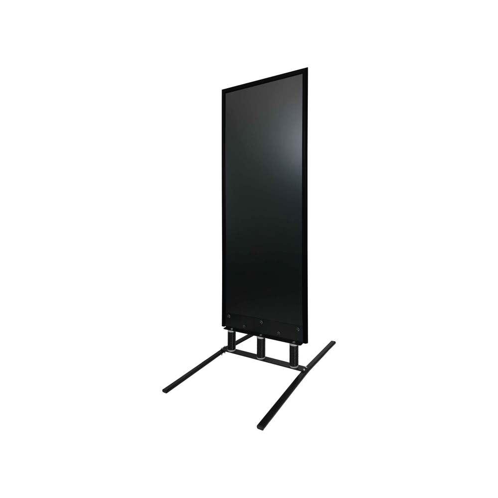 Panneau trottoir grand vent sur 3 ressorts cadre noir dimensions 180 x 65 cm
