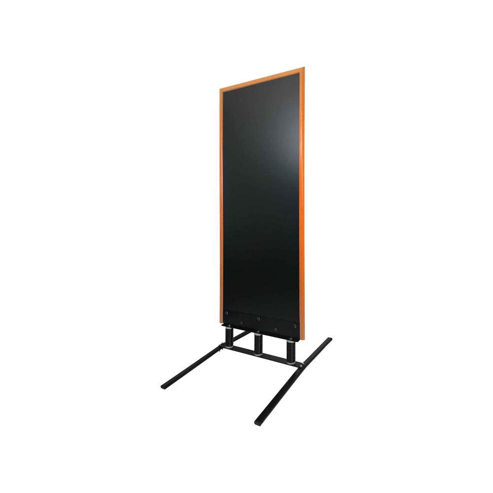 Panneau trottoir grand vent sur 3 ressorts cadre orange dimensions 180 x 65 cm