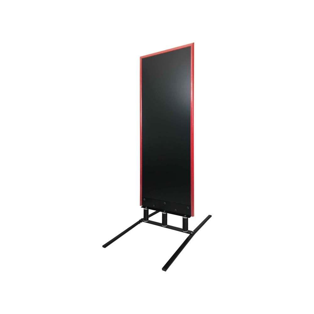 Panneau trottoir grand vent sur 3 ressorts cadre rouge vin de 180 x 65 cm