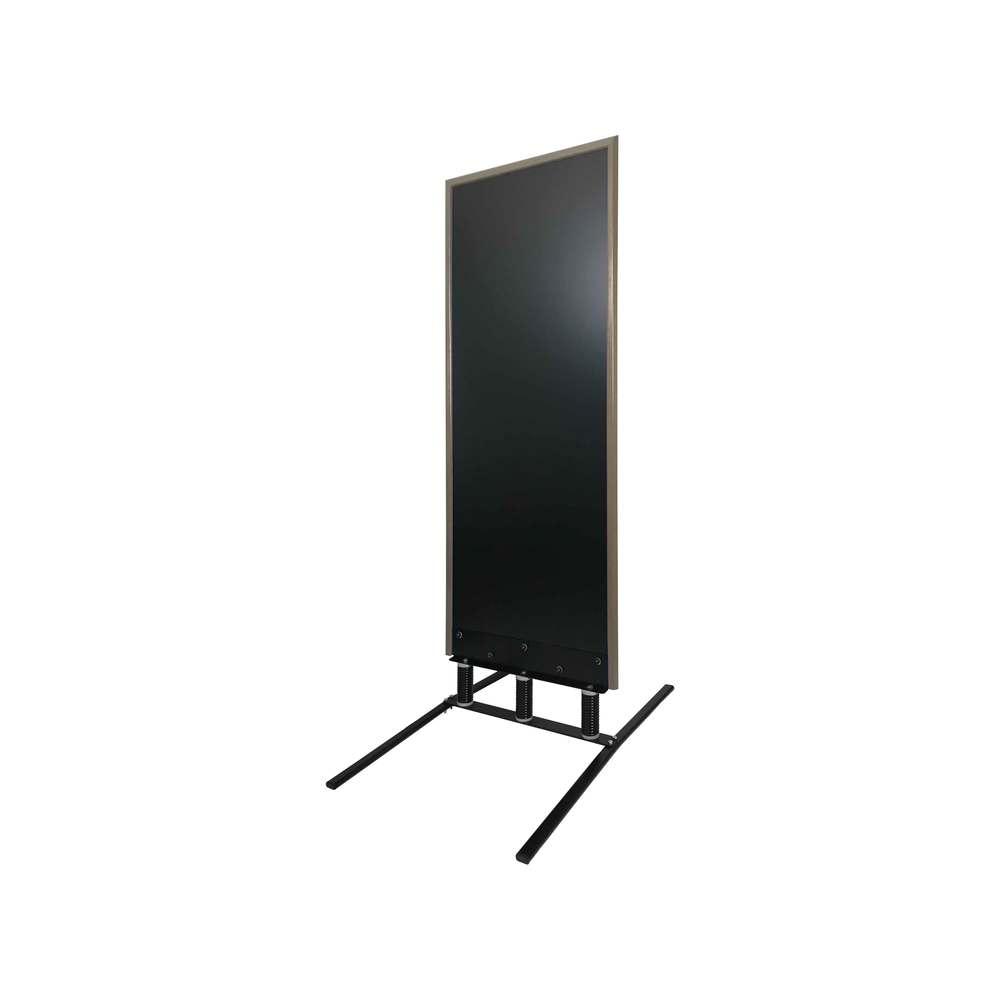 Panneau trottoir grand vent sur 3 ressorts cadre taupe dimensions 180 x 65 cm
