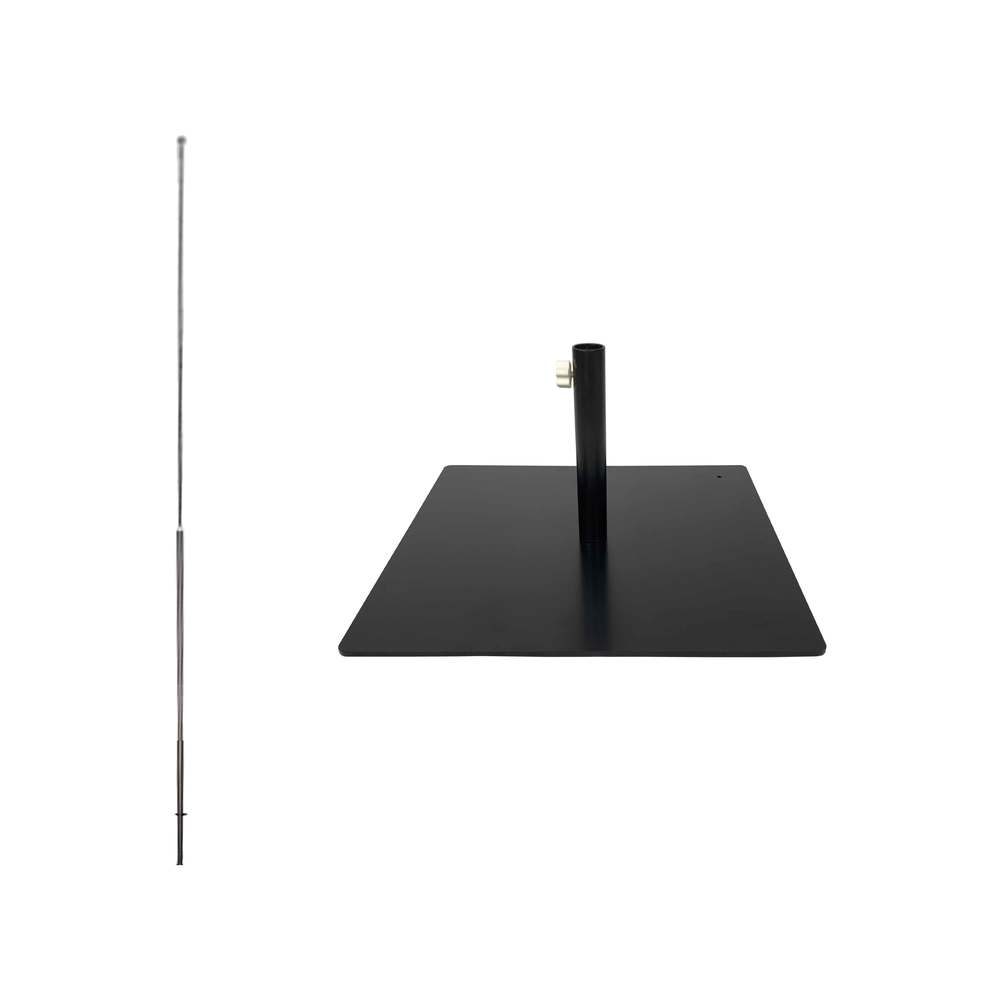 Kit complet mât de 3m50 et socle métallique pour drapeau INTERFLAG®