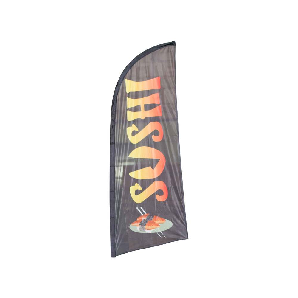 Beach flag - drapeau publicitaire 225x85cm sushi (photo)