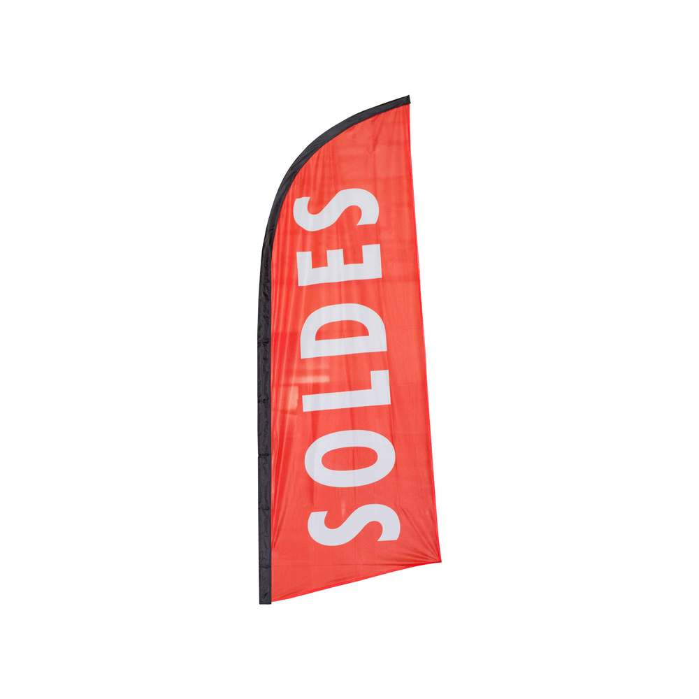Beach flag - drapeau publicitaire 225x85cm soldes (photo)