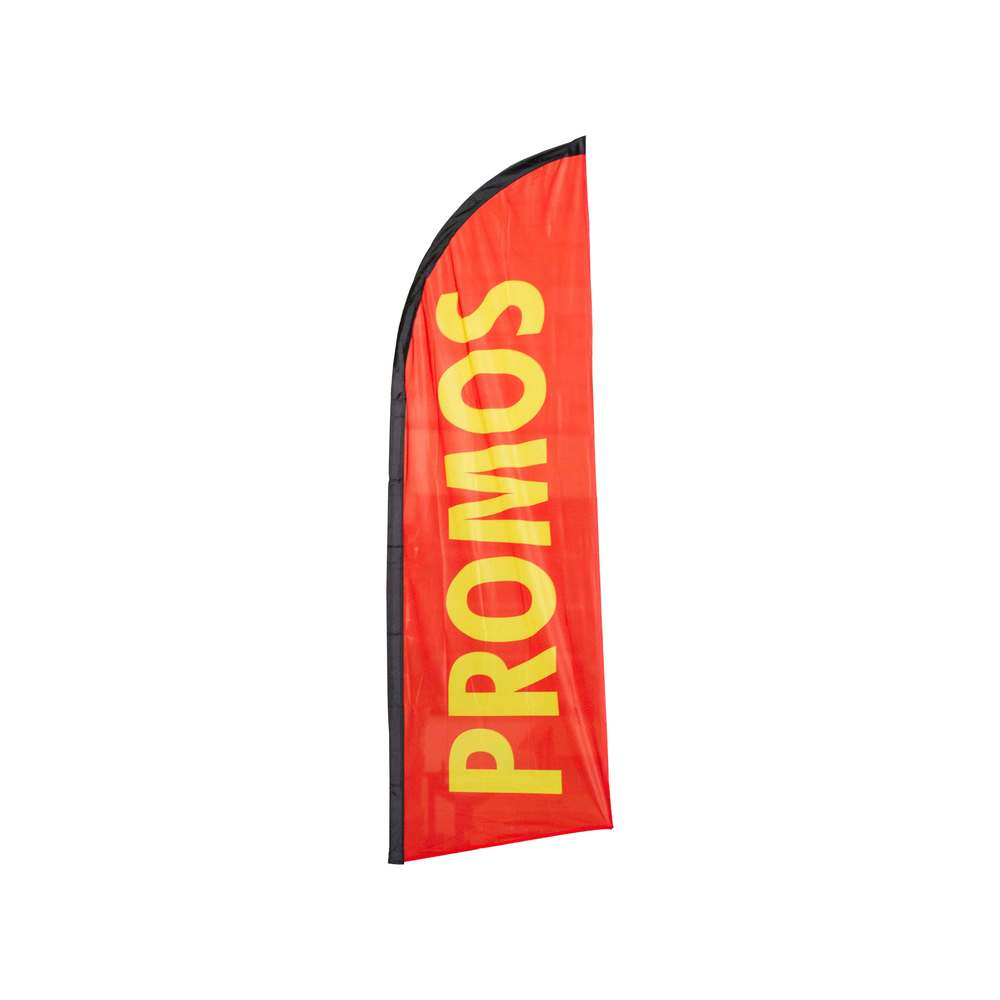 Beach flag - drapeau publicitaire 225x85cm promos (photo)