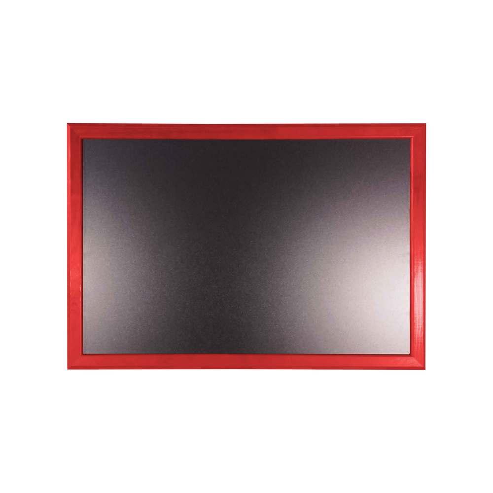 Ardoise murale 66x46cm cadre bois vernis rouge vin - par 2 (photo)