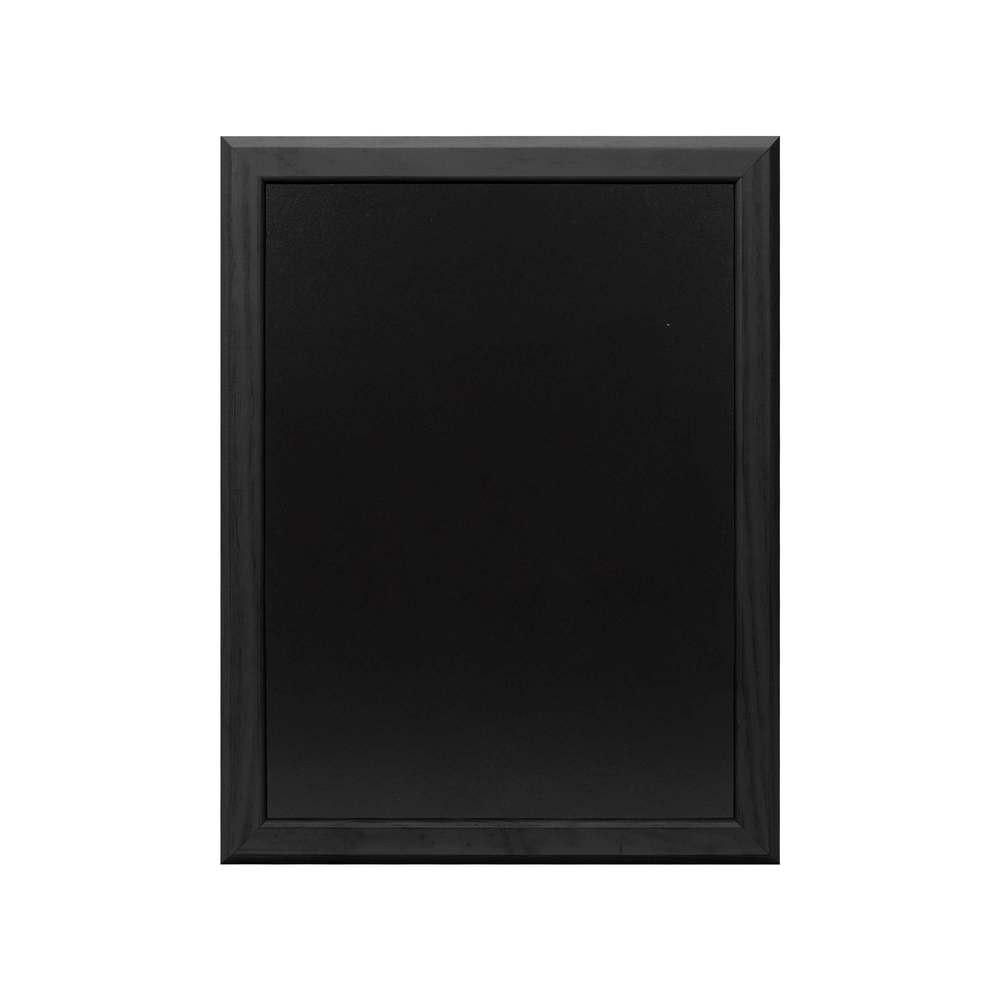 Ardoise murale 46x36cm cadre bois vernis noir - par 2 (photo)