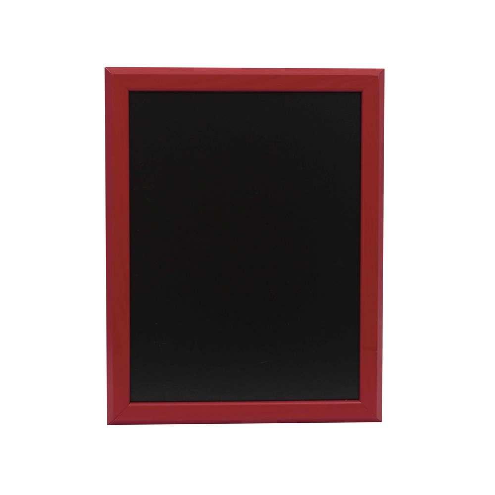 Ardoise murale 46x36cm cadre bois vernis rouge vin - par 2 (photo)