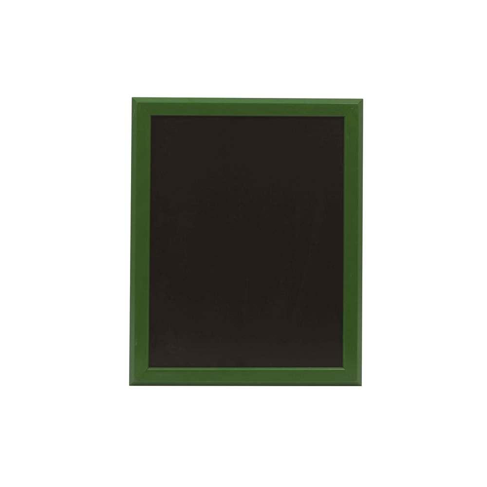 Ardoise murale 46x36cm cadre bois vernis vert feuille - par 2 (photo)