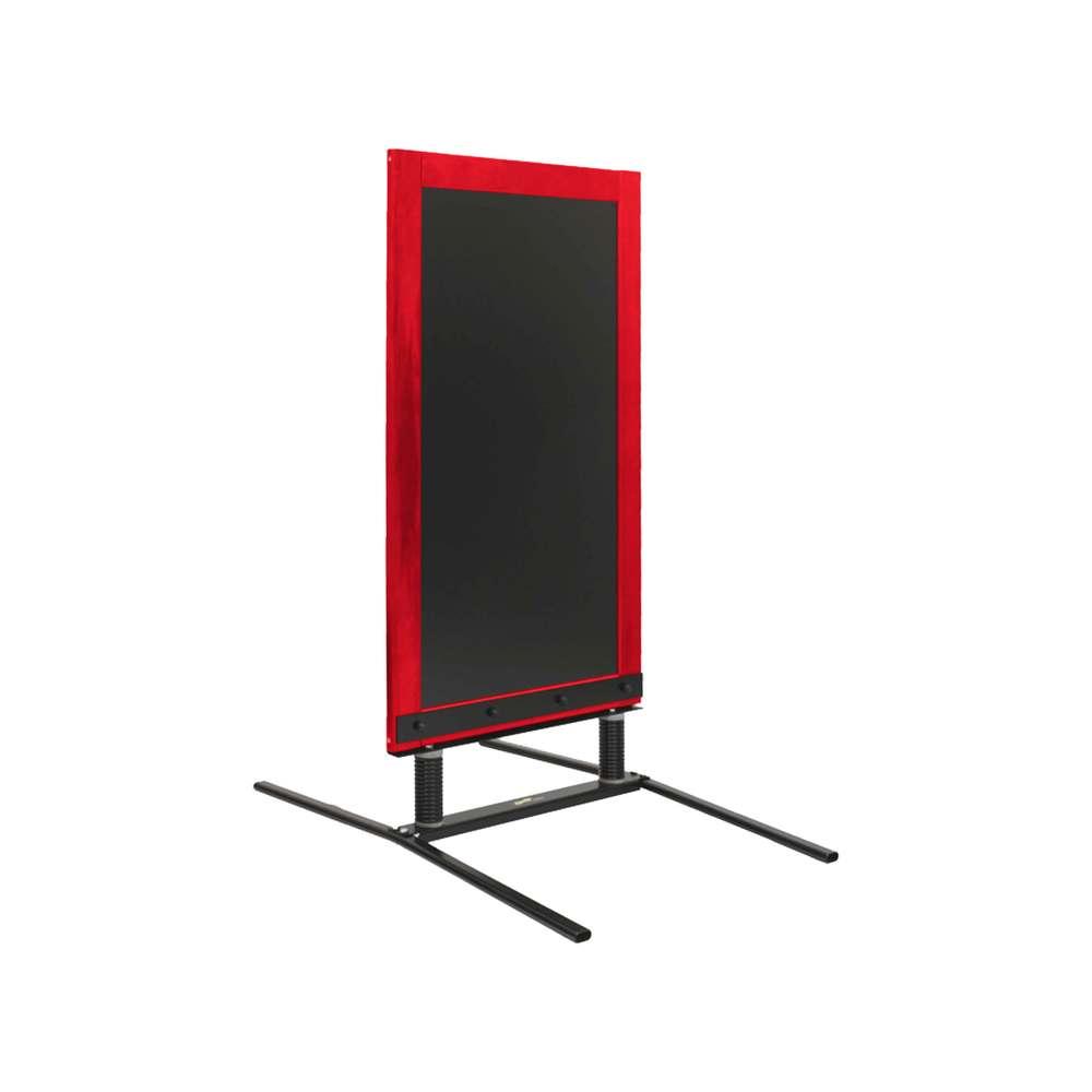 Panneau trottoir sur ressorts dimensions 128 x 65 cm - couleur rouge vin
