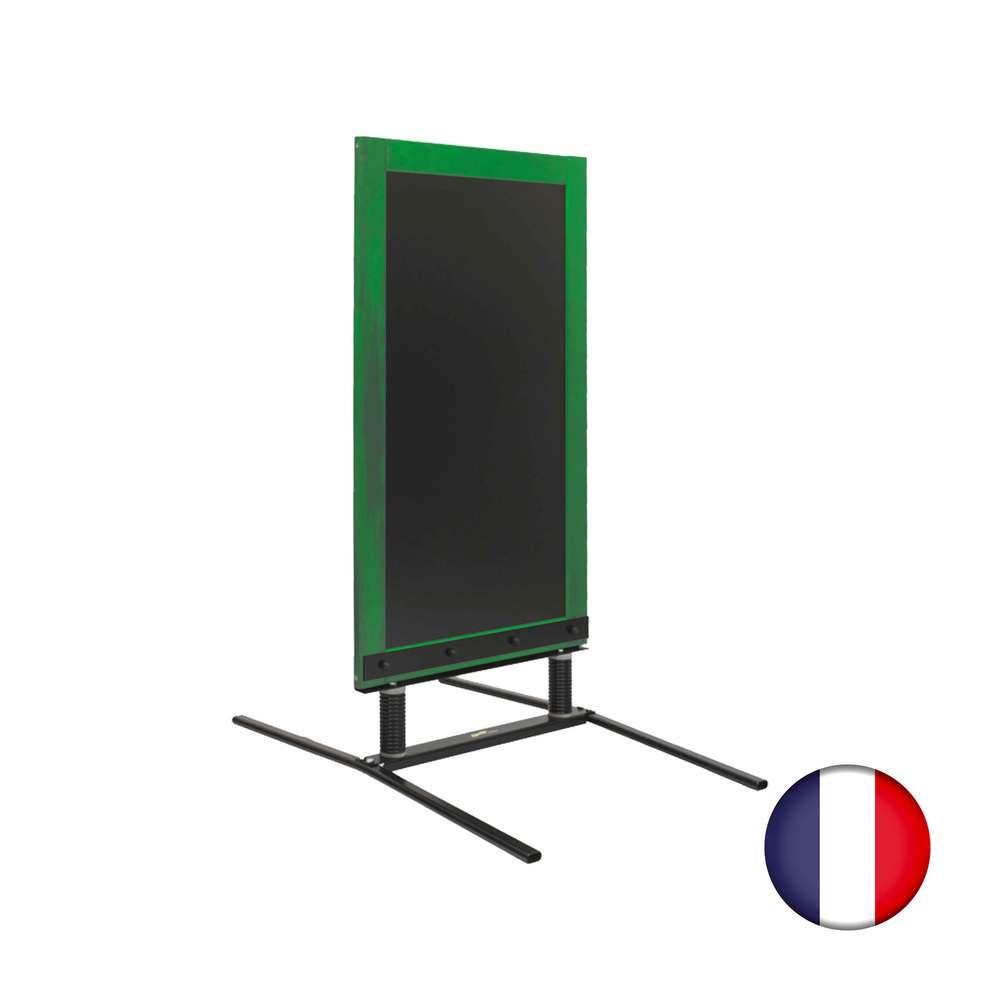 Panneau trottoir sur ressorts dimensions 128 x 65 cm - couleur vert feuille