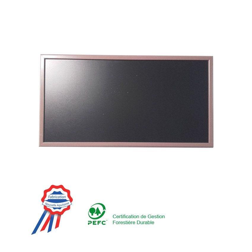 Ardoise à poser 102x57cm cadre bois vernis taupe (photo)