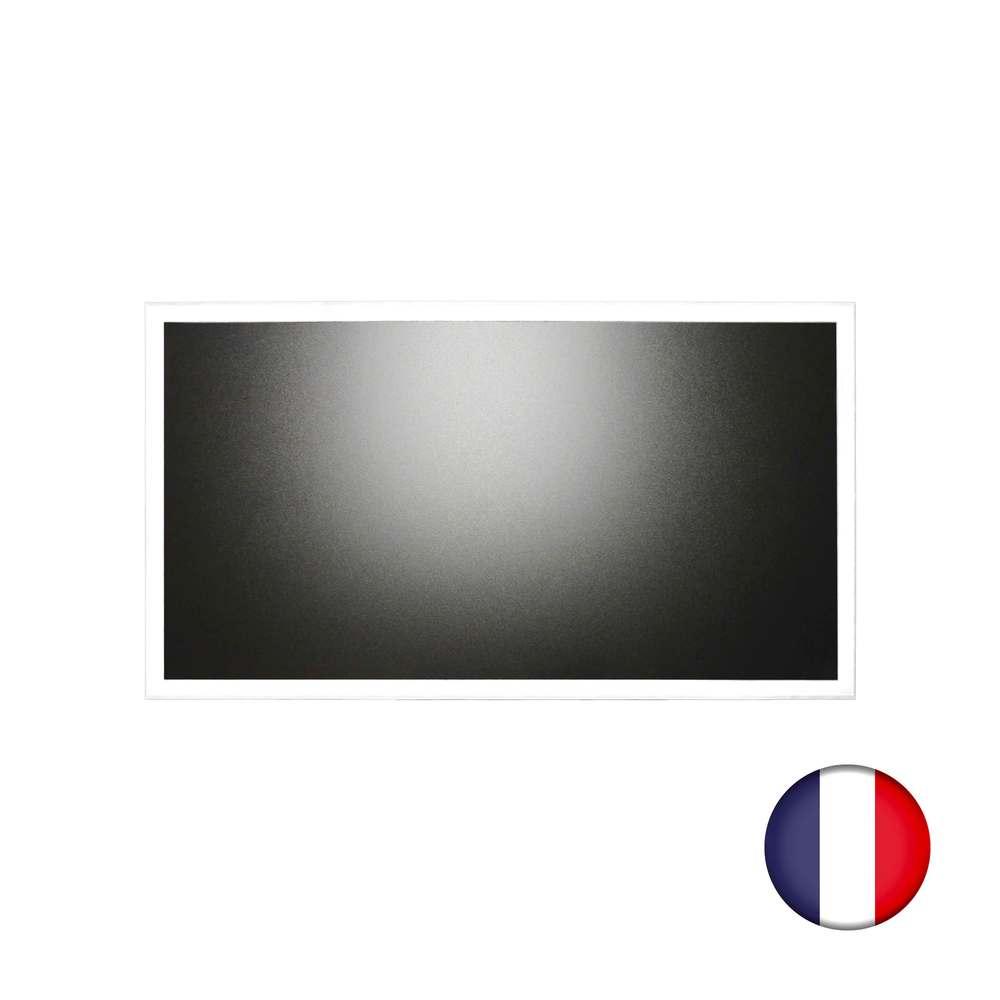 Ardoise murale 102x57cm cadre bois vernis bleu ciel - fabrication française (photo)