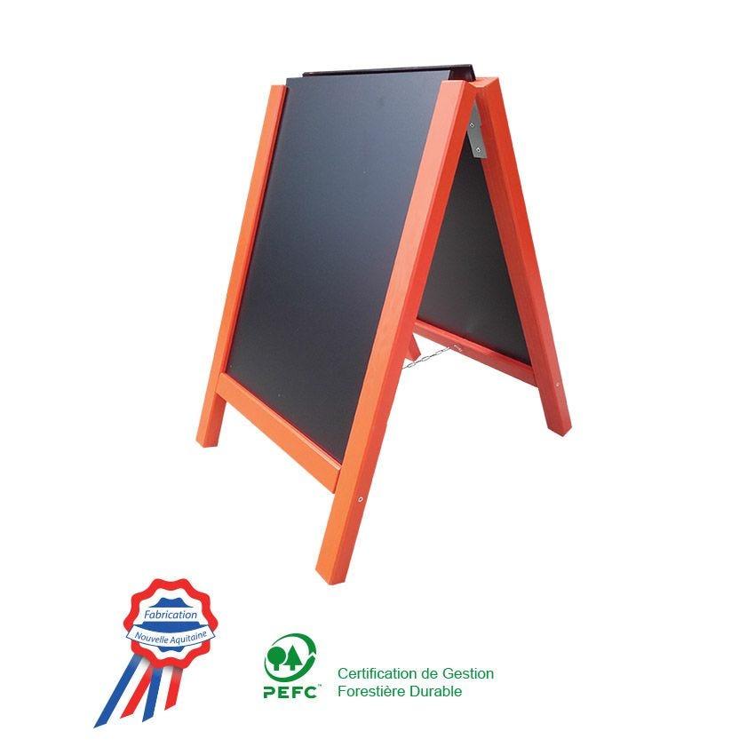 Panneau france nostalgie® stop trottoir 58x90 cm orange 2 ardoises amovibles