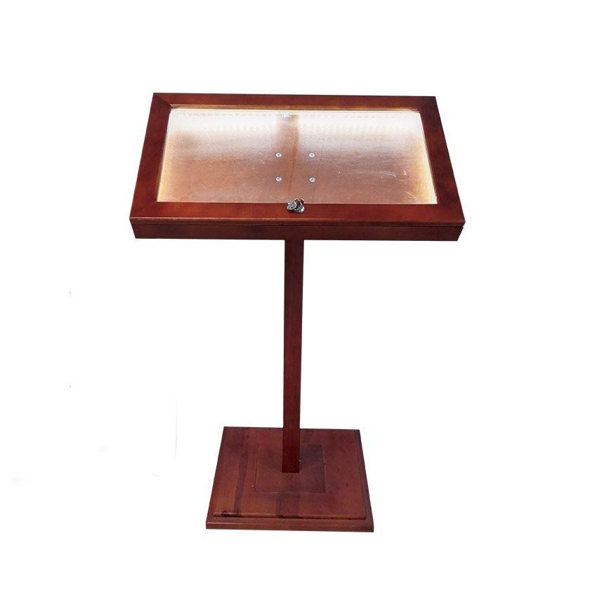 Porte menu bistrot sur pied en bois éclairé led de dimensions 110 cm x 70 cm (photo)